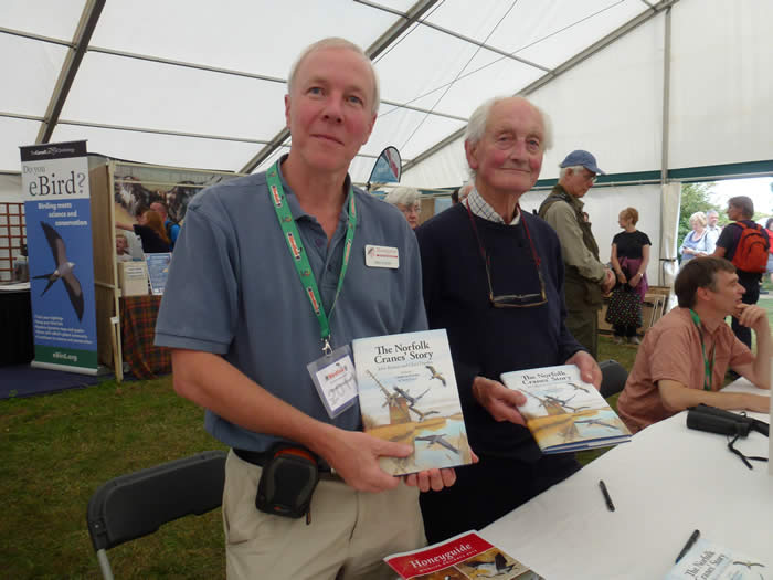 book signing at the Birdfair
